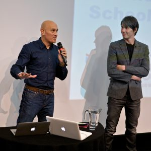 0425-Jim Al-Khalili and Brian Cox answering questions 2